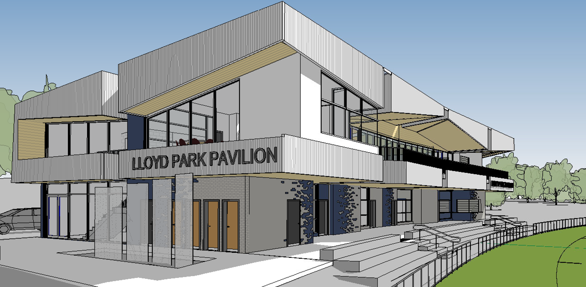 MEDIA RELEASE - FIRST GLIMPSE OF NEW LOOK LLOYD PARK PAVILION - 11 AUGUST 2020 Main Image